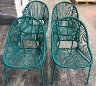 JOHN LEWIS SALSA 4 SEAT ROUND GARDEN TABLE & CHAIRS SET