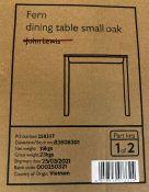JOHN LEWIS FERN 2-4 SEATER DINING TABLE