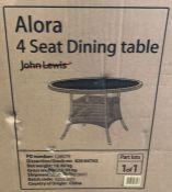 JOHN LEWIS ALORA 4 SEATER GARDEN DINING TABLE