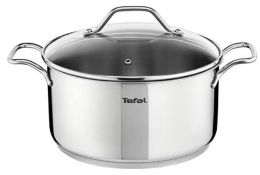 1 X TEFAL INTUITION SS CASSEROLE AND LID / GRADE A / RRP £37.00