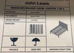 JOHN LEWIS MEDAN BED FRAME, DOUBLE, DARK WOOD