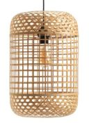 1 X CORDO BIRDCAGE-STYLE WOVEN BAMBOO PENDANT LIGHT SHADE / GRADE A / RRP £70.00