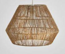1 X YAKU CEILING LAMPSHADE IN NATURAL HEMP / GRADE A / RRP £75.00