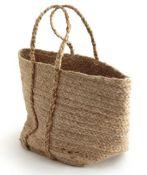 1 X NATURALLE SOFT WOVEN JUTE BASKET BAG / GRADE A / RRP £32.00