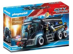 1 X PLAYMOBIL CITY ACTION 9360 SWAT TRUCK WITH LIGHT AND SOUND EFFECTS FOR CHILDREN AGES 5+ / GRADE