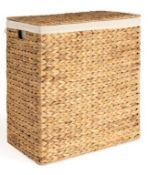 1 X DOUBLE COMPARTMENT LAUNDRY BASKET / GRADE A / RRP £125