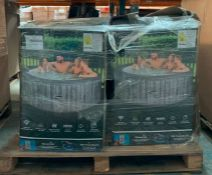 1 x PALLET TO CONTAIN 4 x CLEVERSPA HOT TUBS - RRP £2,094.92