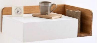 LA REDOUTE JIMI FLOATING BEDSIDE TABLE, LEFT-HAND SIDE