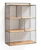 LA REDOUTE AREGELO WOOD AND METAL WALL UNIT