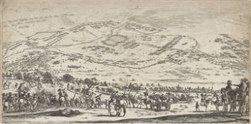 """DELLA BELLA, STEFANO: """"Plan et vue de la ville d'Arras""""."""