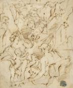 ITALIEN, 2. HÄLFTE 19. JH.: Bacchus und Ceres mit Satyr und Amorettenpaar.