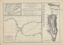 FRANKREICH, 18. JH.: Karten von Gibraltar.