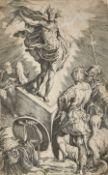 """PARMIGIANINO, IL (FRANCESCO MARIA), Nach - After: """"Die Auferstehung Christi""""."""