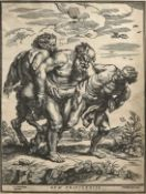 JEGHER, CHRISTOFFEL, RUBENS, PETER PAUL: Silen, begleitet von Satyr und Faun.