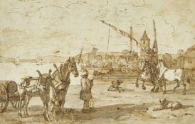 BIEDERMANN, JOHANN JAKOB: Le Port Ouchy.