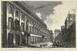 """PIRANESI, GIOVANNI BATTISTA: """"Veduta del Palazzo Odescalchi""""."""
