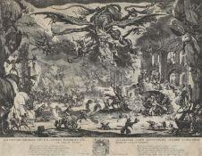 """CALLOT, JACQUES: """"La tentation de Saint Antoine""""."""