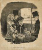 """DAUMIER, HONORÉ: """"Un premier voyage en chemin de fer""""."""