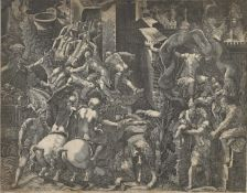 """GHISI, GIORGIO: """"Der Fall von Troja""""."""
