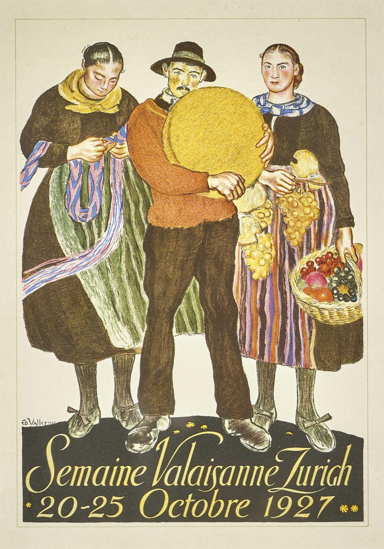 "VALLET, ÉDOUARD: ""Semaine Valaisanne Zurich Octobre 1927""."