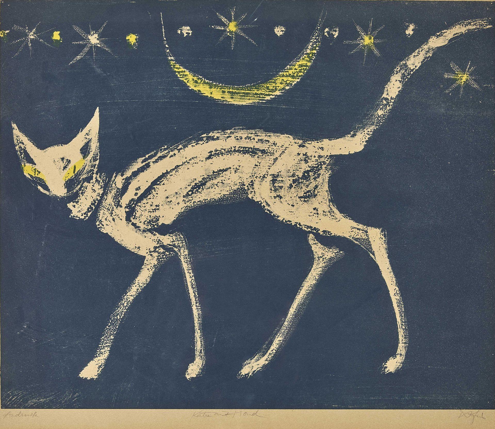 """FIS (EIGTL. FISCHER, HANS): """"Schreitende Katze"""". - Bild 2 aus 2"""