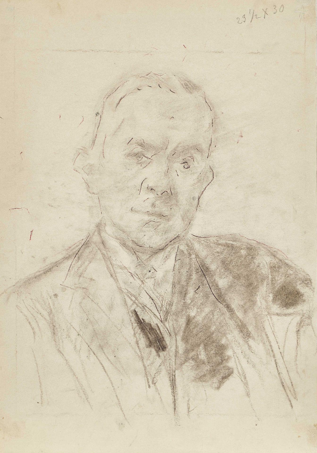LIEBERMANN, MAX: Brustbildnis eines Mannes en face.