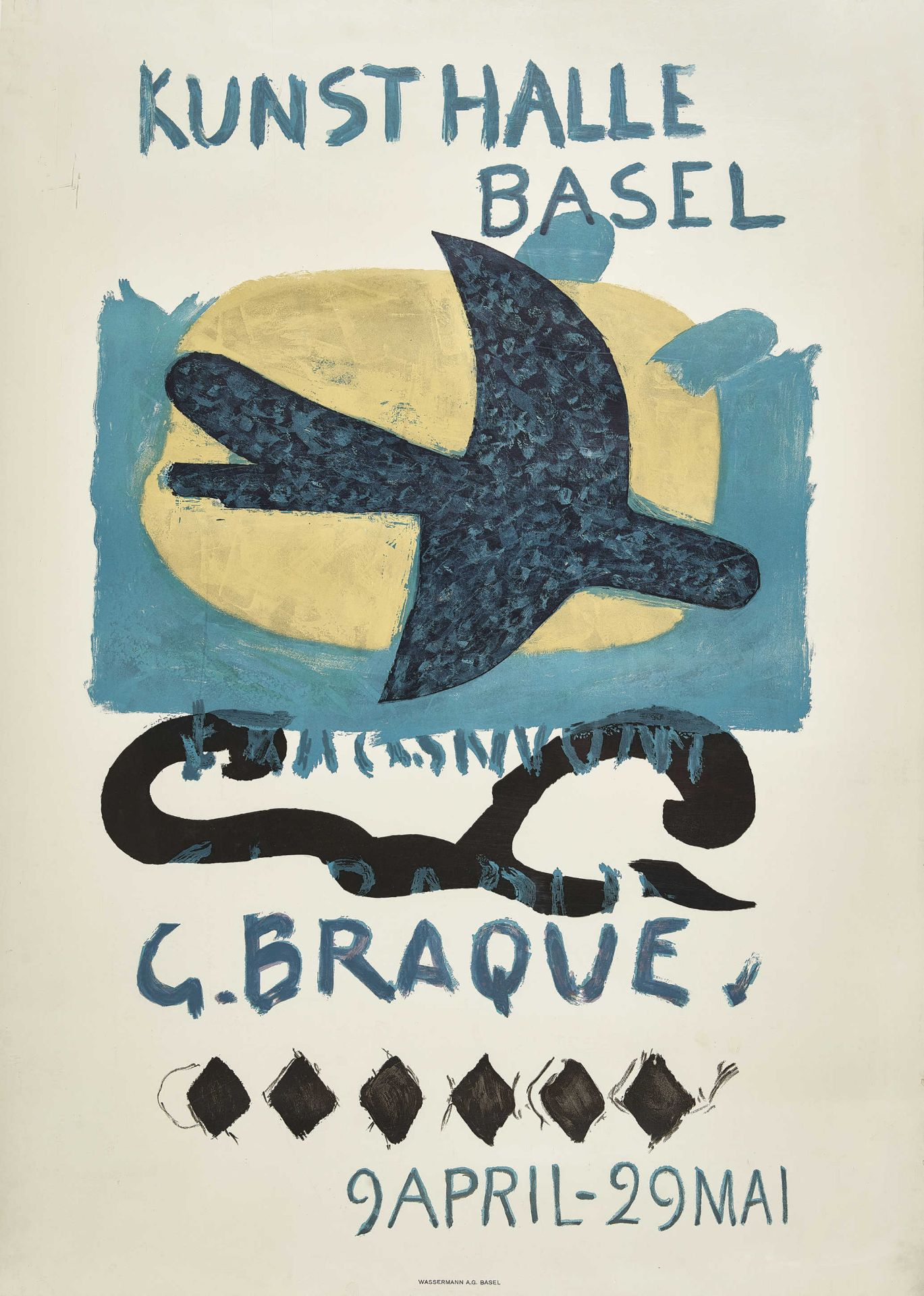 "BRAQUE, GEORGES: ""Kunsthalle Basel 9 April - 29 Mai (1960)""."
