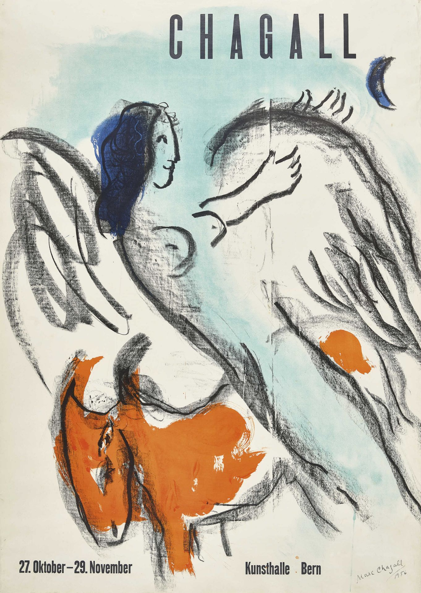 "CHAGALL, MARC: ""Chagall 27. Oktober - 29. November Kunsthalle Bern""."