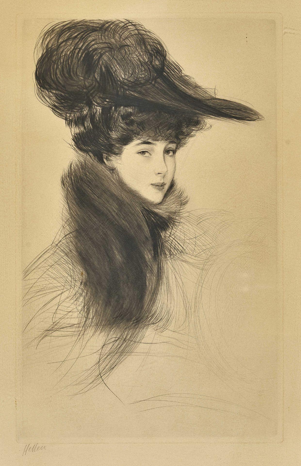 HELLEU, PAUL CÉSAR: Consuelo Vanderbilt (1877-1964), Prinzessin von Marlborough.