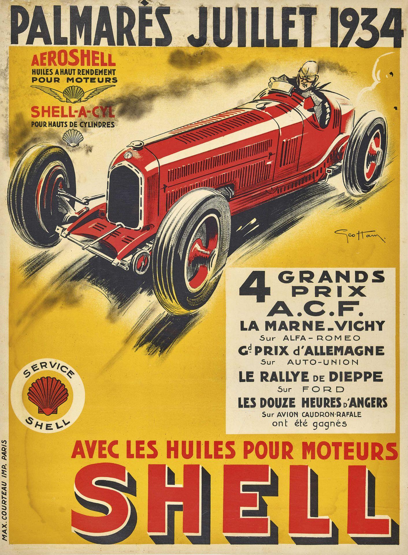 """HAM, GEO: """"Palmarès Juillet 1934""""."""