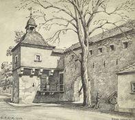 """BOLLER, ERMANNO (HERMANN): """"Basel. Letziturm 1676""""."""