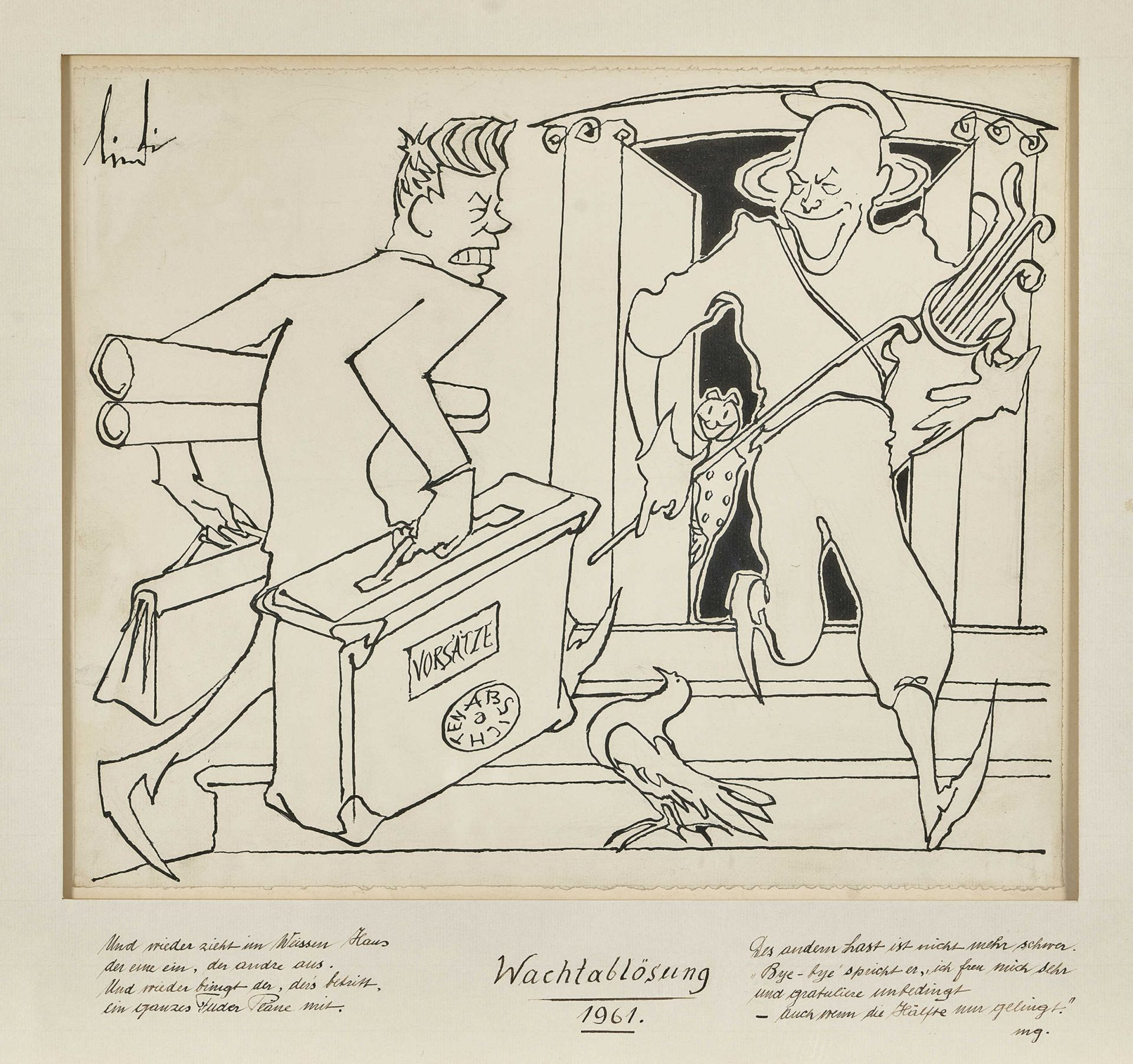 "LINDI (EIGTL. LINDEGGER, ALBERT): ""Wachablösung 1961""."