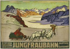 "BURGER, WILLY (EIGTL. WILHELM FRIEDRICH): ""Jungfraubahn""."