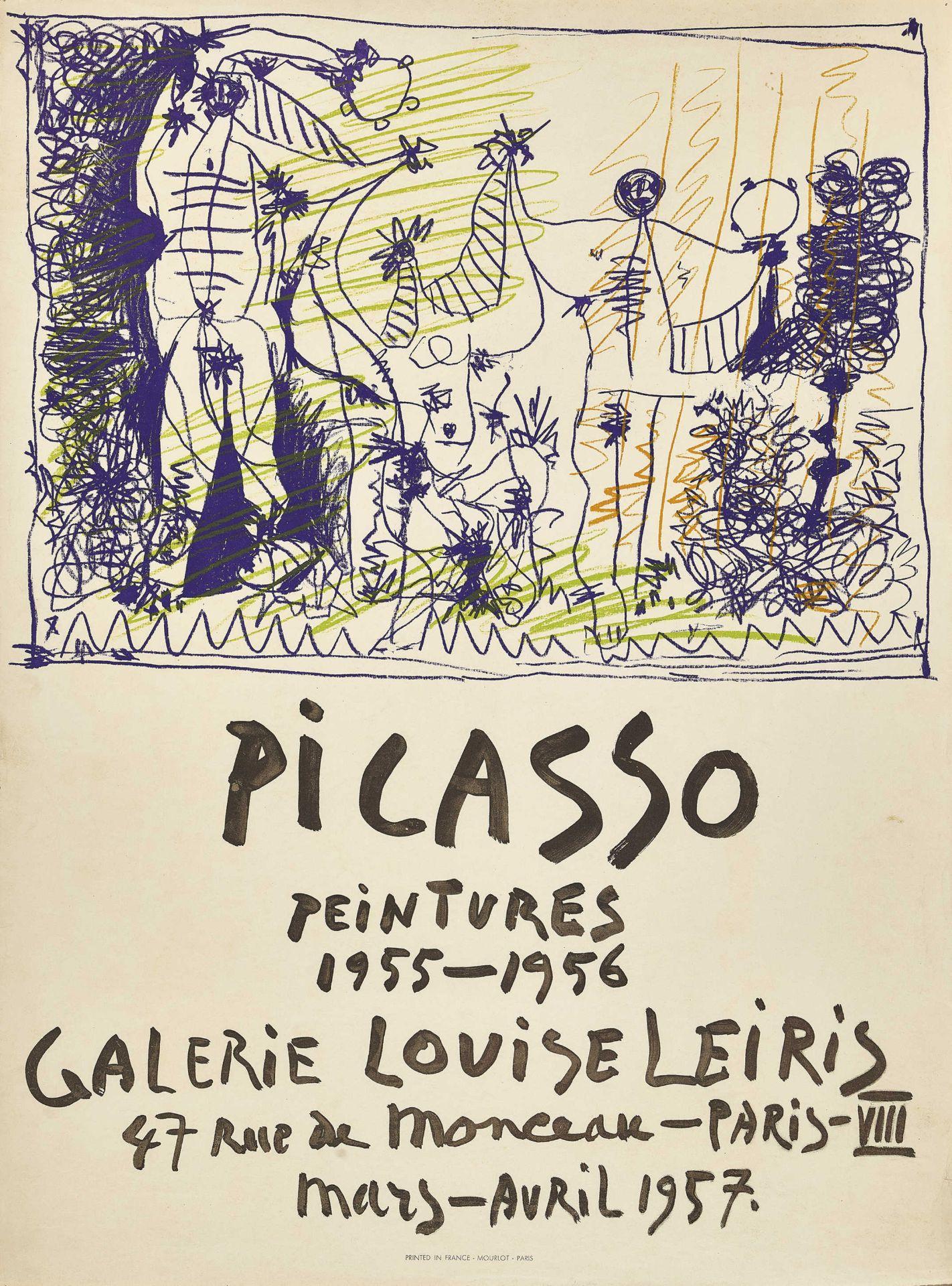 """PICASSO, PABLO: """"Picasso peintures 1955-1956 Galerie Louise Leiris 1957""""."""