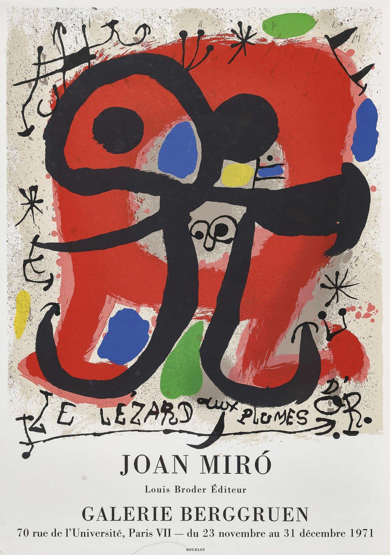 """MIRÓ, JOAN: """"Le Lézard aux Plumes d'Or. Joan Miró Galerie Berggruen, Paris 1971."""""""