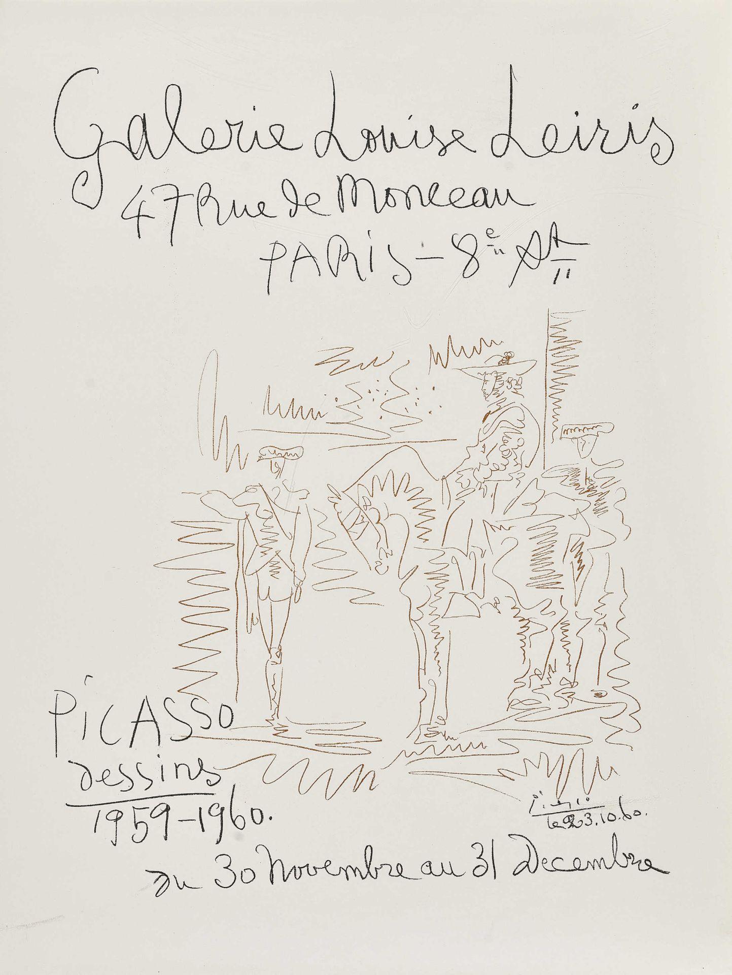 "PICASSO, PABLO: ""Galerie Louise Leiris Paris Picasso dessins 1959-1960""."