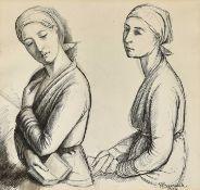 BARRAUD, FRANÇOIS ÉMILE: Deux femmes.