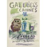 "PICASSO, PABLO: ""Galerie 65 Cannes Picasso 1956""."