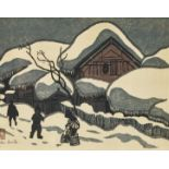 """SAITO, KIYOSHI: """"Winter in Aizu""""."""