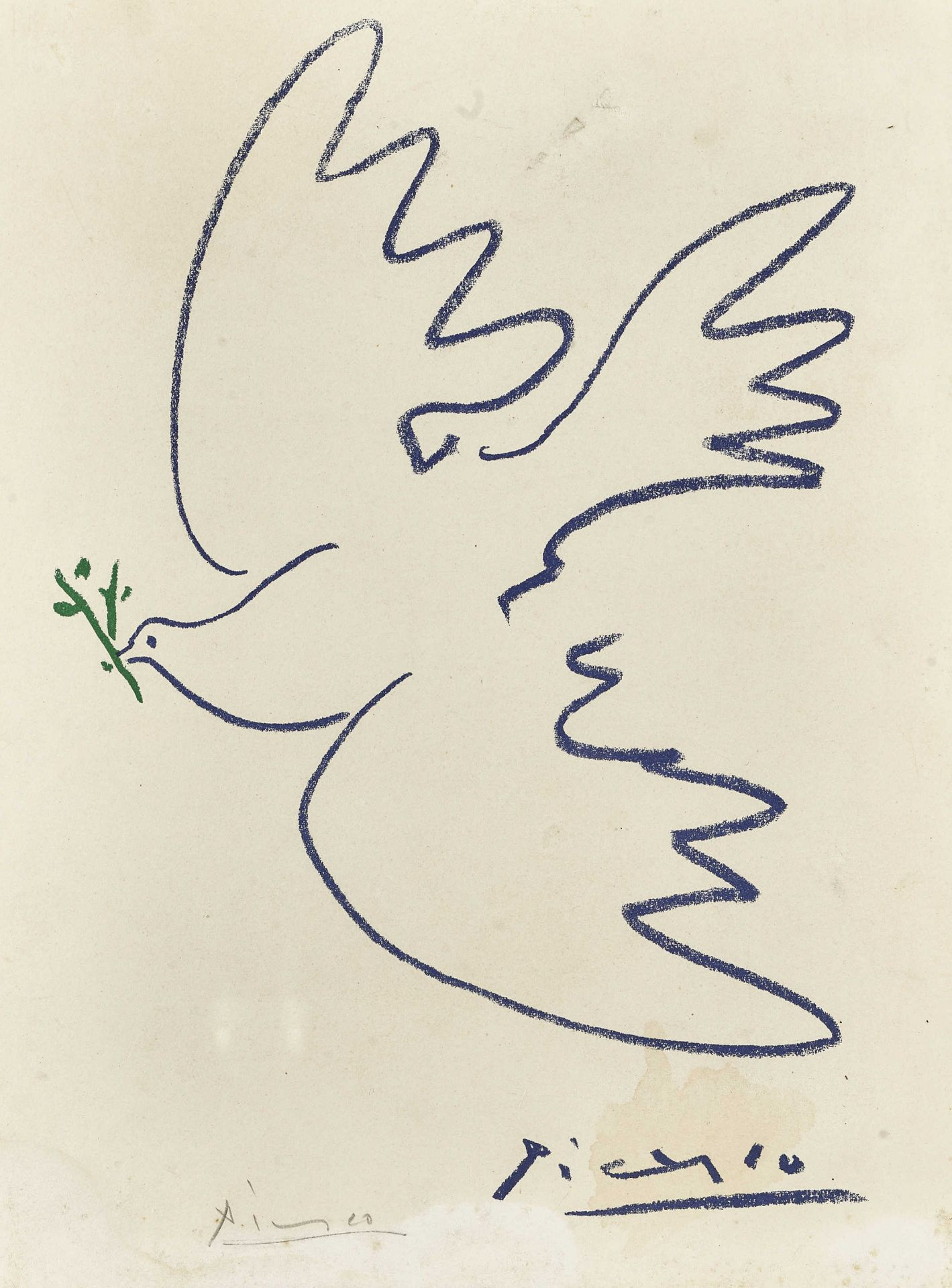 "PICASSO, PABLO: ""La colombe de la paix""."