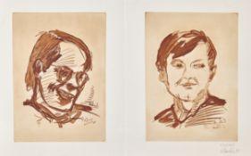 BASELITZ, GEORG (EIGTL. KERN, HANS-GEORG): Doppelporträt Heiner Friedrich und Franz Dahlem.