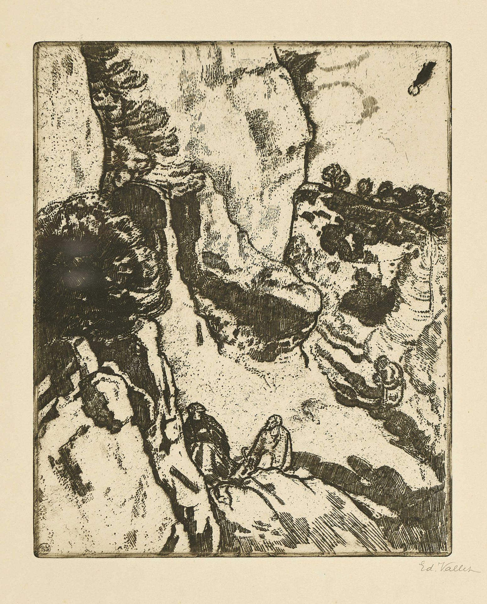 """VALLET, ÉDOUARD: """"Saint-Antoine et Saint-Paul, ermites""""."""