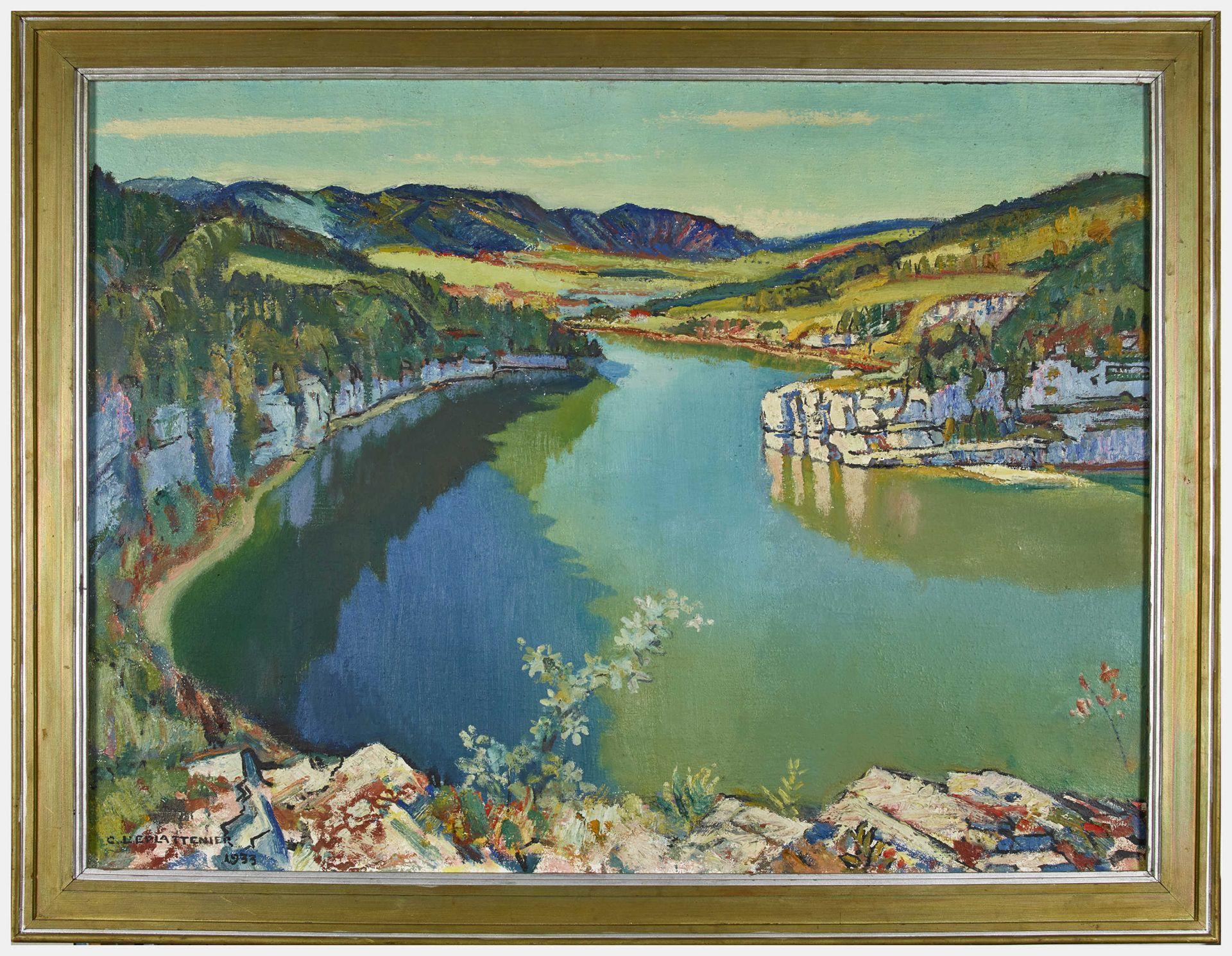 "L'EPLATTENIER, CHARLES: ""Bassin de Doubs"". - Image 2 of 4"
