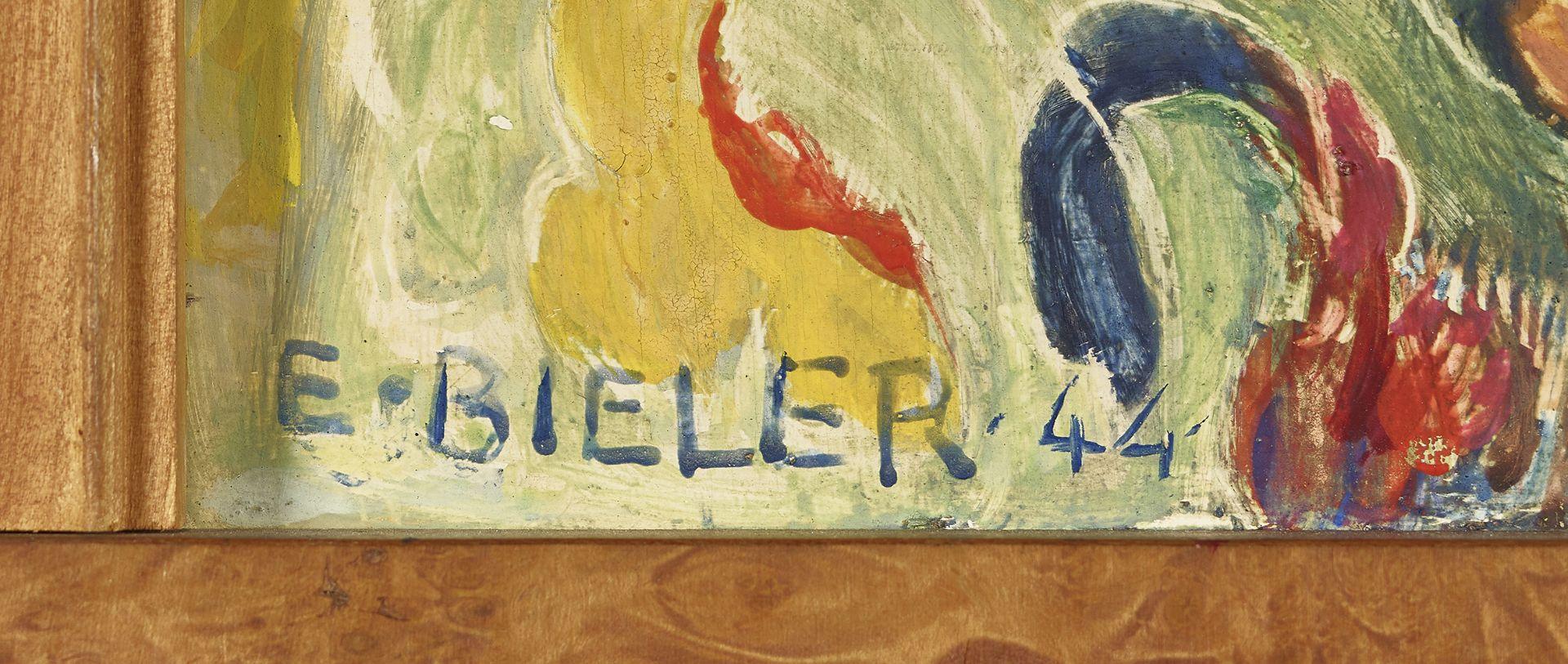 BIÉLER, ERNEST: Portrait de jeune valaisanne au foulard et au collier. - Image 4 of 4