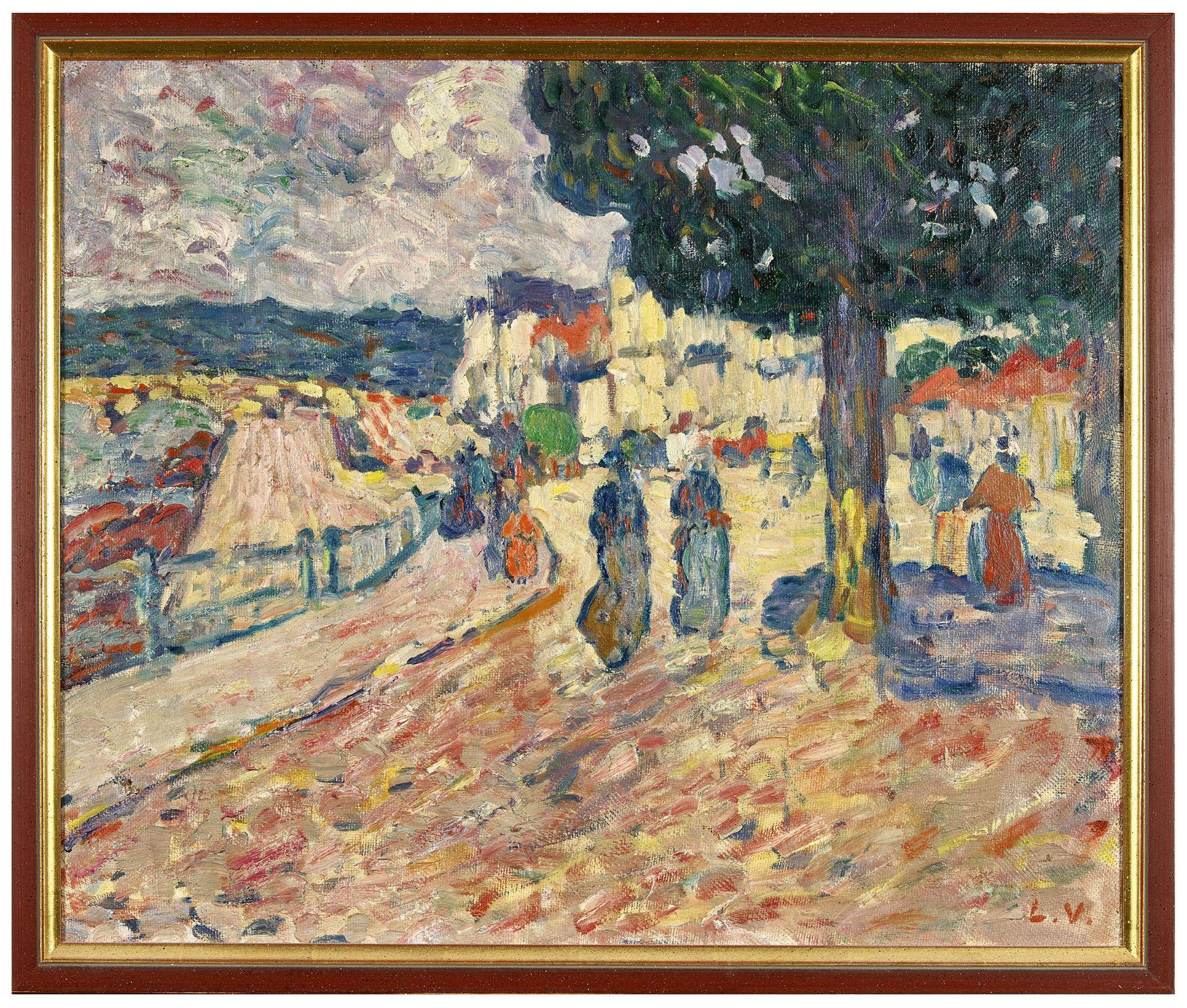 """VALTAT, LOUIS: """"Promeneuses au bord de l'eau, environs de Paris"""". - Image 2 of 6"""