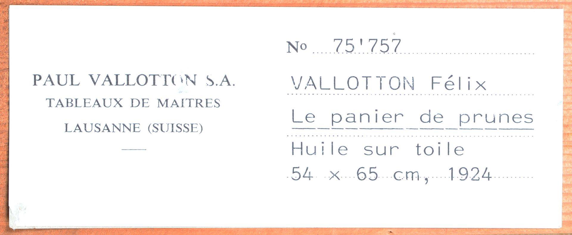 "VALLOTTON, FÉLIX: ""Panier de prunes"". - Image 6 of 9"