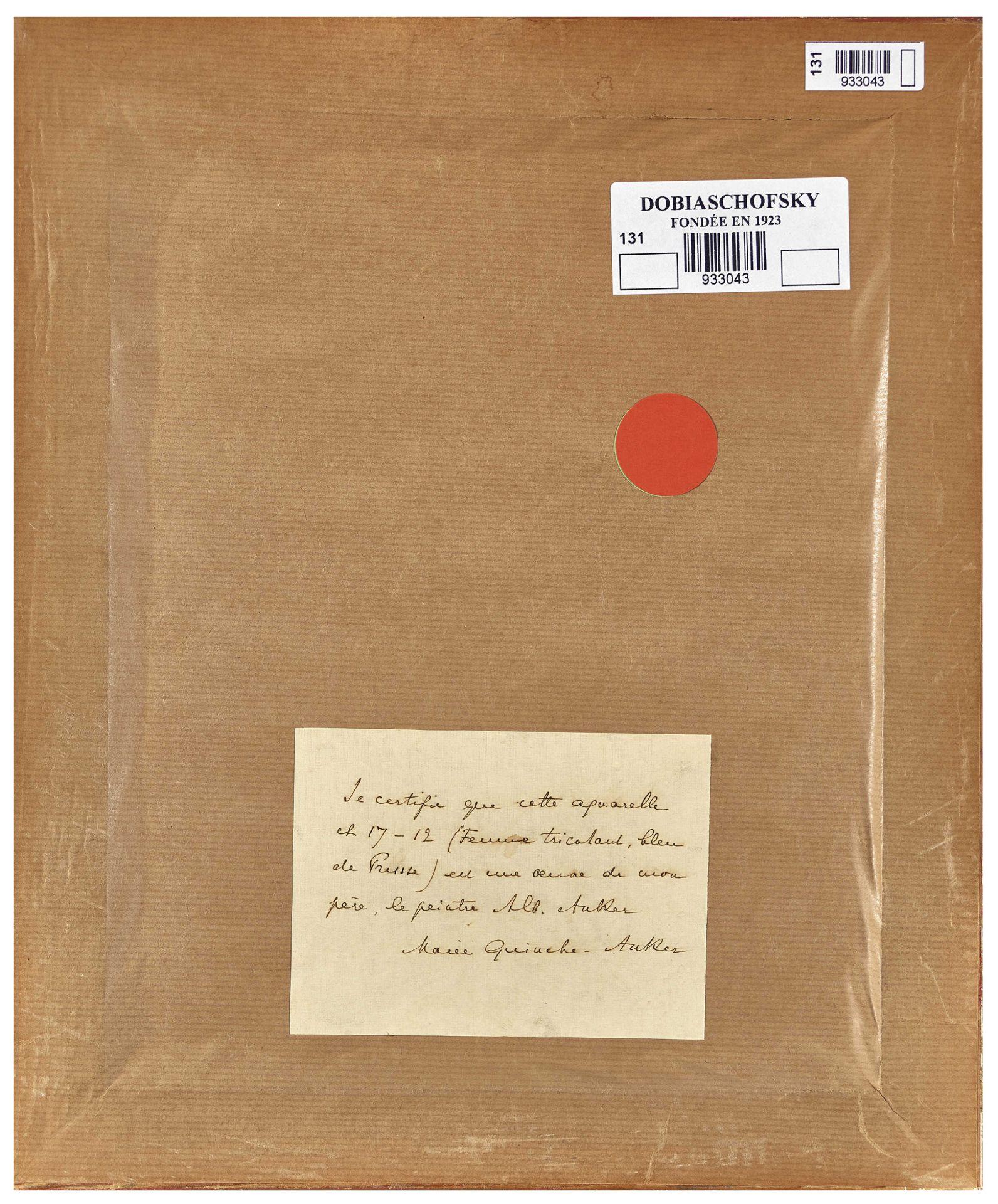 """ANKER, ALBERT: """"Femme tricotante"""". - Image 3 of 3"""