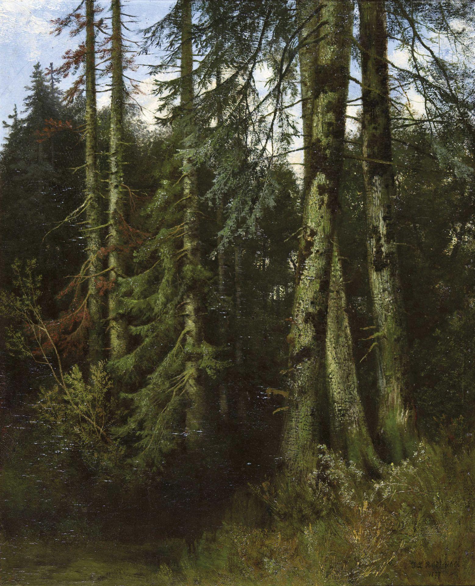 RÜDISÜHLI, JAKOB LORENZ: Im Wald.