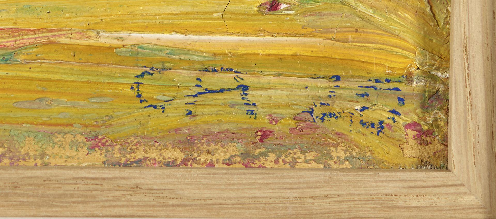 """AMIET, CUNO: """"Gelbe Landschaft"""". - Image 4 of 4"""
