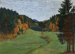CARDINAUX, EMIL: Herbstliche Waldlichtung.